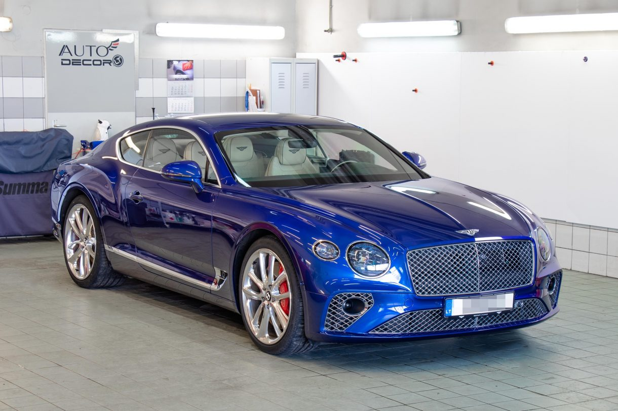 bentley gt apklijavimas paint protection